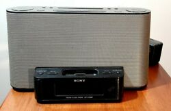 Sony Dream Machine FM/AM Clock Radio ICF-CS10iP Speaker Dock iPhone iPod