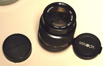 Minolta  Md 135Mm Lens  With Both Caps