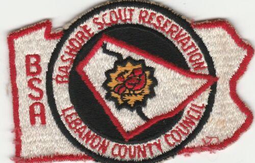 Vintage BSA Boy Bashore Scout Reservation Patch Lebanon County Council PA