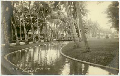 c1910 Zamboanga Philippines The Canal In The Military Post Real Photo