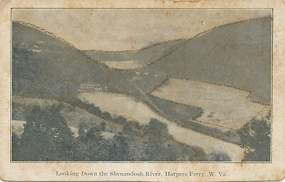 Harpers Ferry Wv   Looking Down The Shenandoah River Ca  1905