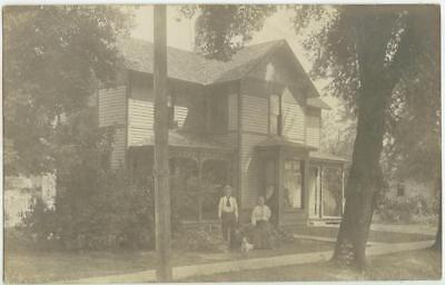 c1908 Indianola Iowa home of George & Rebecca Heiny Real Photo -house number 310