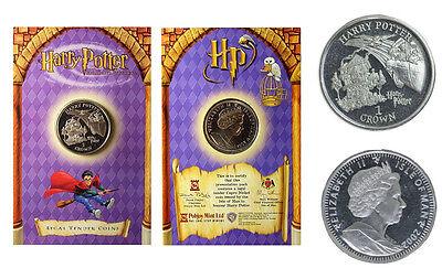 Harry Potter Münze Isle of Man 1 Crown 2002 Heulende Hütte+Flieg. Auto (603C)