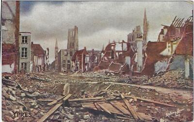 Ypres Ieper Wereldoorlog I La Rue du Verger Ruines 14-18