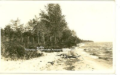 ROSCOMMON,MICHIGAN-TRAILS END-NORTH-HOUGHTON LK-SHORE-RPPC(RP#1-1391)