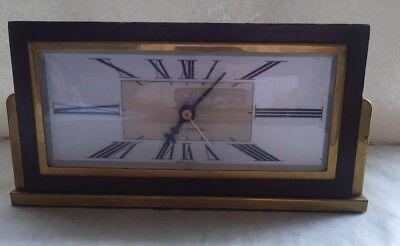 Seth Thomas Baxter-E Electric Mantle Clock Vintage Mid Century Roman Numerals