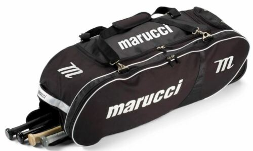 Marucci Player Wheeled Bag Baseball Softball Black Team Travel