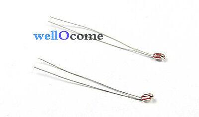 20pcs Ntc Thermistor 100k Ohm 1 B3950 Glass Encapsulated For 3d Reprap Mk2a