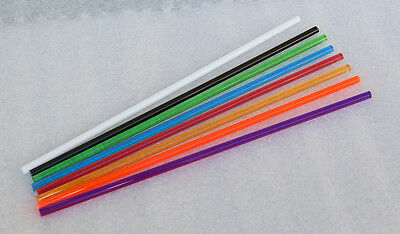 8 Different Clear Color Acrylic Plexiglass Plastic Lucite Rod 14 Inch Diameter