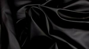 Vinyl PVC Leather Black Soft Skin Clothing / Upholstery Car Fabric BTY 55