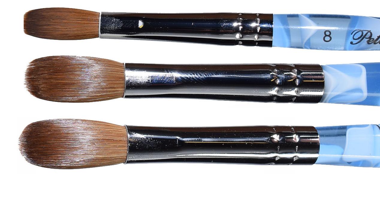 Blue Marble Petal Kolinsky Acrylic Manicure Powder Nail Brus