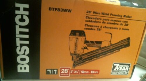 BOSTITCH BTF83WW Wire Weld Framing Nailer, FREE SHIPPING
