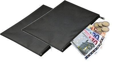 2 Stück Banktasche Geldtasche Autotasche Geldscheintasche Aufbewahrungstasche