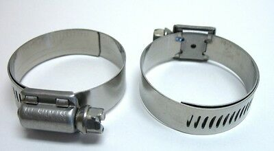 2 Breeze Hose Liner Clamps 9420 All Stainless Steel 1316   1 34 Silicone 44 mm