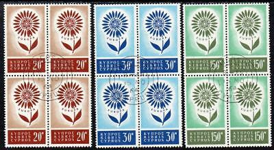 CYPRUS USED 1964 SG249-51 Europa Block of 4 Set