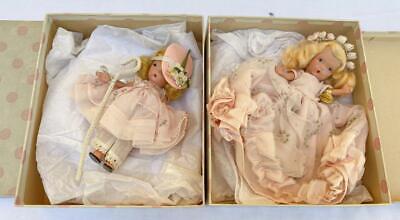 Vintage Nancy Ann Storybook Dolls #153 Little Bo Peep - #155 Cinderella Jointed