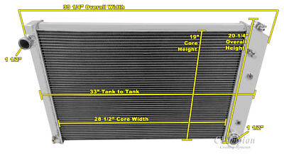 2 Row All Aluminum Performance Radiator For 1973   91 ChevyGMC Trucks