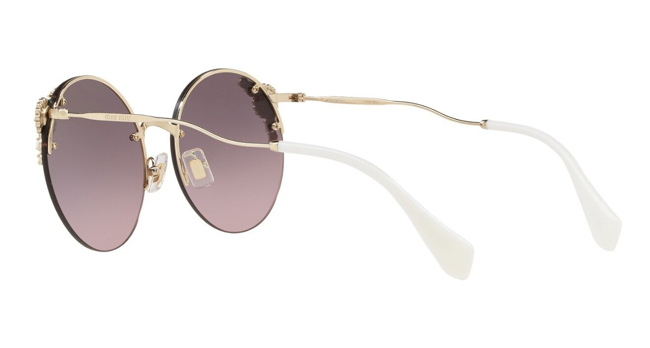 afd58b5ceaf6c ... Miu Miu PEARL COLLECTION SMU52TS pale gold pink grey shaded (VW7-146)  ...