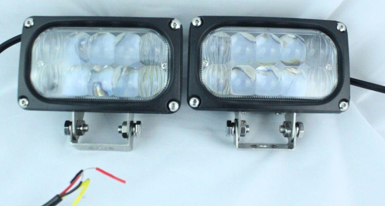 Led Lights For Utility Tractors : Quot cree led fog tractor utility bob cat flood spot