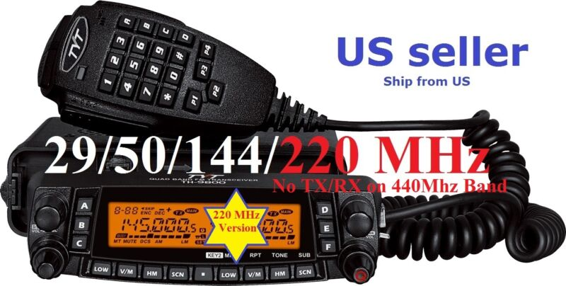 TYT TH-9800 PLUS 29/50/144/220 MHz QUAD BAND TRANSCEIVER Mobile