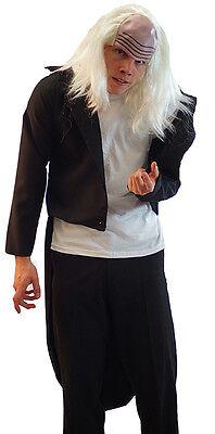HALLOWEEN/Men's RIFF RAFF ROCKY HORROR MAD CREEPY BUTLER Tailcoat & Wig