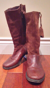 Zara Leather Riding Boots