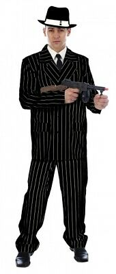 MEN'S GANGSTER COSTUME ADULT PINSTRIPE SUIT 1920'S FANCY DRESS MAFIA MOBSTER  - Pinstripe Suit Costume