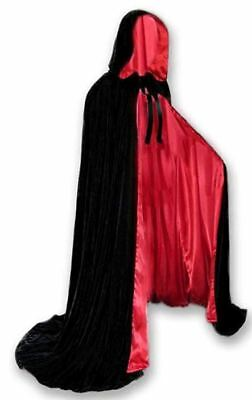 Lined Cloak with Hood Luxury Fashion Vampire Costume Witch Medieval Cosplay - Costumes With Cloaks