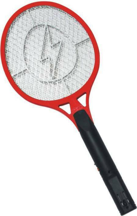 Handheld Bug Zapper Tennis Racket Electronic Fly swatter RED