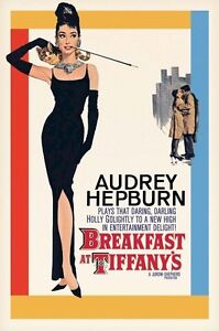AUDREY HEPBURN MOVIE POSTER ~ BREAKFAST AT TIFFANY'S 24x36 Regular Georg Peppard