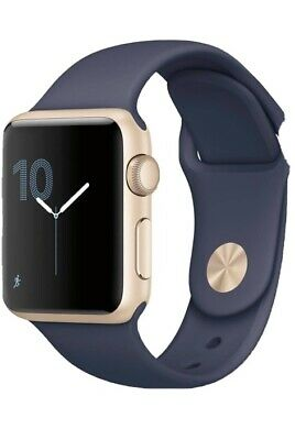 apple watch series 2 42mm Gold Case, Blue Strap