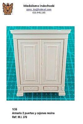 WWII 1/35 armario 2 puertas furniture RESINA accesorios diorama muebles