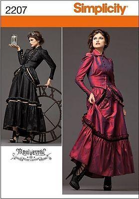 SIMPLICITY MISSES' STEAMPUNK COSTUME VICTORIAN ERA SEWING PATTERN SIZE 6-20 (Era Costumes)