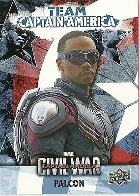 2016 Upper Deck Marvel Captain America Civil War Team Captain America Bio Cab2