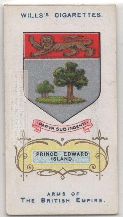Prince Edward Island Dominion Canada British  Coat Arms 100+ Y/O Trade Ad Card