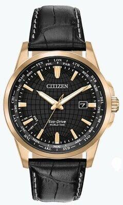 Citizen Eco-Drive Men's World Time Perpetual Calendar 41mm Watch BX1003-08E