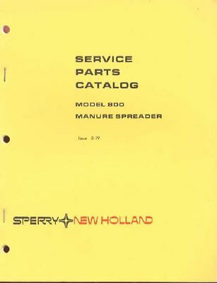 New Holland 800 Manure Spreader Service Parts Catalog