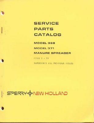 New Holland 368371 Manure Spreader Service Parts Catalog