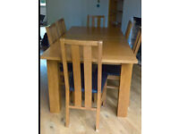 Dinnigroom table and 6 chairs
