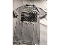 Men's extra small USA flag t-shirt grey