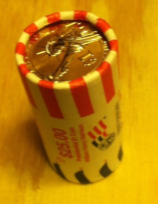 William Henry Harrison Presidential Dollar Coin Roll Unopened