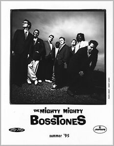 "THE MIGHTY MIGHTY BOSSTONES SUMMER '95 PRESS PHOTO B&W 8""x10"""