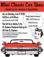 Mini Classic Car Show - Hosted by the St. Andrew's Foundation