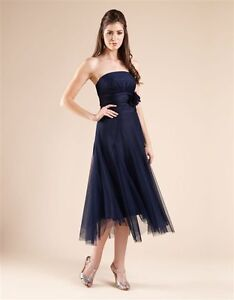 BN MONSOON MACIE BLACK TULLE BANDEAU CORSAGE PROM DRESS/GOWN 10