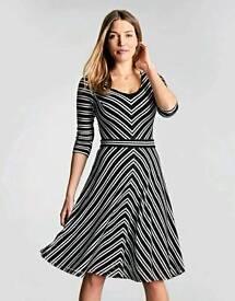 Bravissimo Chevron Dress Size 10