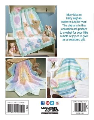 Crochet Pattern Book The Best of  MARY MAXIM BABY AFGHANS ~ 7 - Baby Crochet Book