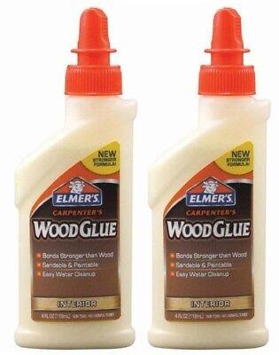 2x Elmers E7000 4oz Carpenters Wood Glue Interior Paintable Glue Usa 6329593