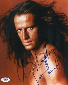 CHRISTOPHER LAMBERT SIGNED AUTHENTIC 8X10 PHOTO AUTOGRAPH PSA/DNA #I84539