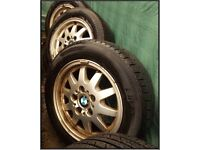 """Alloy Wheels And Tyres BMW 15"""" Tyres Size 205/60R/15"""
