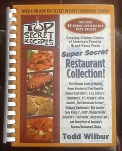 Copycat Recipes - Todd Wilbur original restaurant collection $20